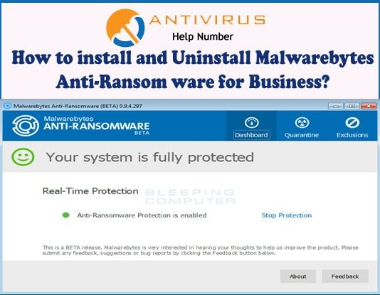 How to install and Uninstall Malwarebytes Anti-Ransom ware for Business?