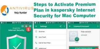 Steps to Activate Premium Plan in kaspersky Internet Security for Mac Computer