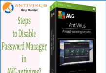 Steps to Disable Password Manager in AVG antivirus?