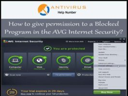 How to give permission to a Blocked Program in the AVG Internet Security
