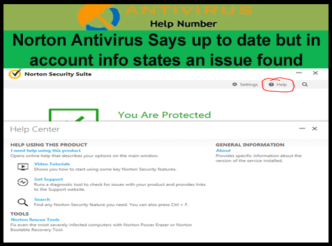 Norton Antivirus Says up to date but in account info states
