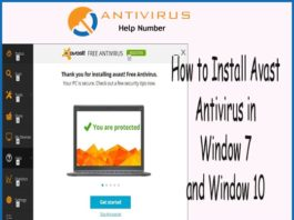 How to Install Avast Antivirus in Window 7 and Window 10