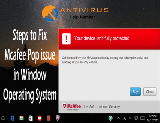 Steps to Fix Mcafee Pop issue in Window Operating System