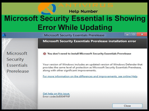 Microsoft Security Essential is Showing Error While Updating