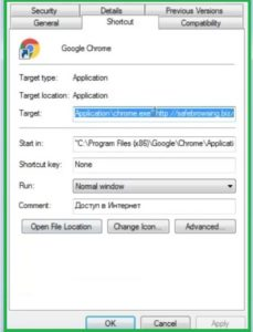Fixing Browsers Shortcut